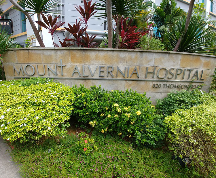 Proposed Additions & Alterations works at Mount Alvernia Hospital, 820 Thomson Rd